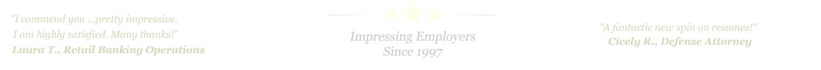 Hattiesburg Resume Service... IMPRESSING EMPLOYERS SINCE 1997!